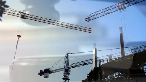 Digital animation of buildings under construction 4k Animation