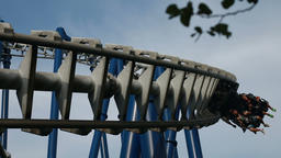 Roller Coaster Ride on Sky Background Footage