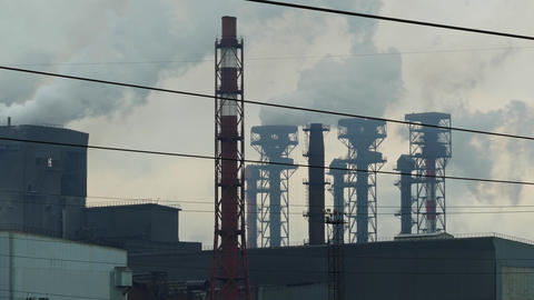 flames and toxic fumes pollutes the environment Footage