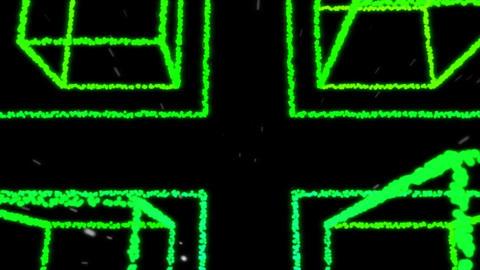4K VJ loop city street rain light particles background Stock Video Footage