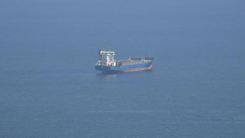 Cargo Ship In Ocean Or Sea Footage
