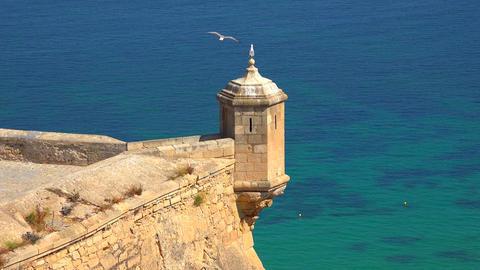 Castle Watchtower Near Ocean Footage