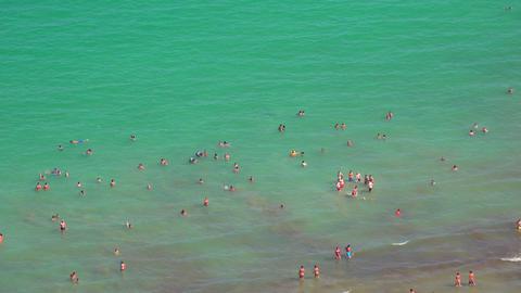 People Swimming In Ocean Footage