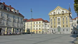 Ursuline Church of the Holy Trinity in Ljubljana Footage