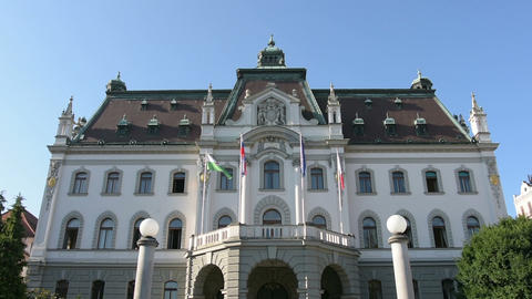 the university building in Ljubljana Live Action