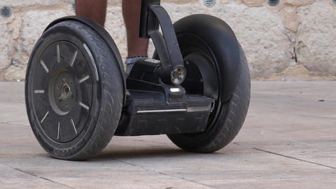Wheels While Riding Personal Mobility Device Footage
