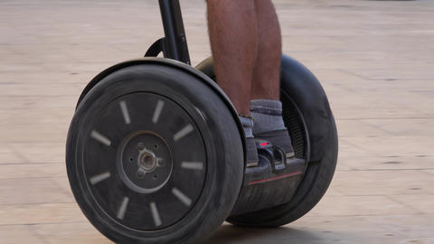 Riding Wheeled Mobility Device Footage