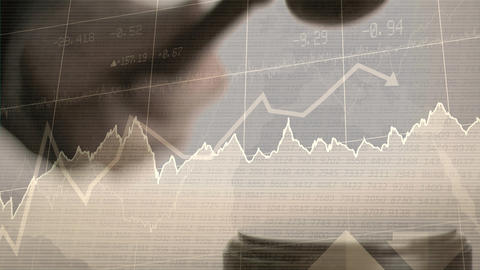 Conceptual digital animation showing business graph 4k Animation