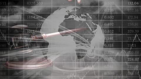 Conceptual digital animation showing globe business 4k Animation
