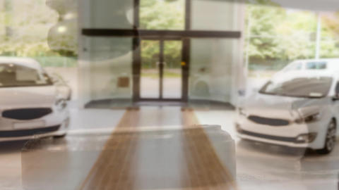 Digital animation of cars kept at showroom 4k Animation