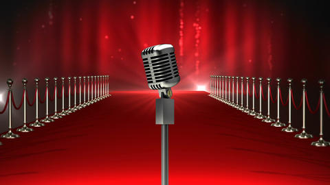 Microphone on red carpet Video Animation