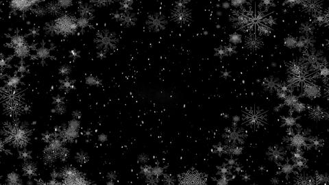 Falling snow with snowflakes Animation