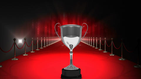 Trophy on red carpet Video Animation