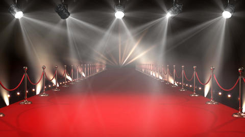 Red Carpet with Lights Video Animation