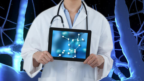 Tablet showing DNA Video Animation