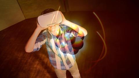 Child using VR Video Animation