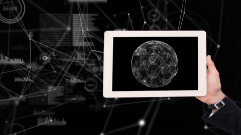 Tablet showing moon Animation
