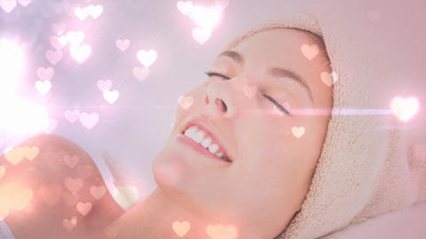 Beautiful woman enjoying in a spa Animation