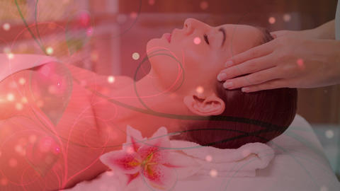 Pretty woman getting a massage Animation