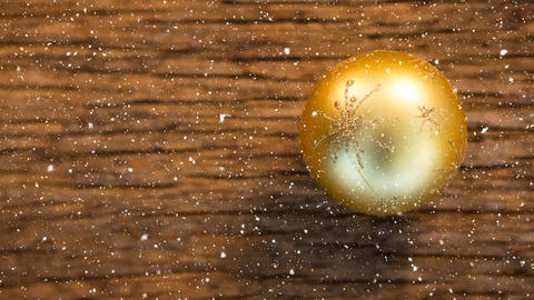 Falling snow with Christmas bauble decoration Animation