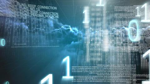 Digital animation of binary code technology 4k Animation