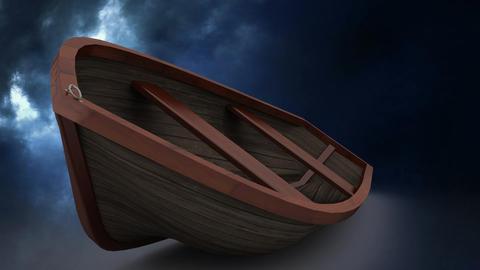 Boat in lightning storm Animation