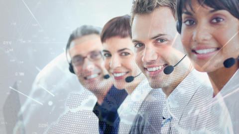 People working in Callcenter Animation