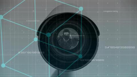 Digital animation of cctv camera 4k Animation