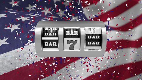 Digital animation showing metallic bar sign and number 7 4k Animation