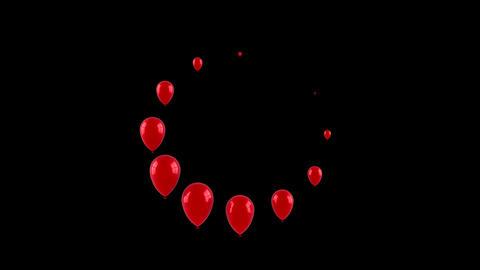 Balloons Form a Loading Circle 애니메이션