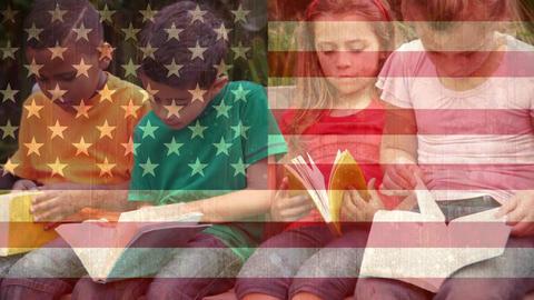 Children reading books video Animation