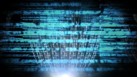 Digital animation of binary technology data 4k Animation