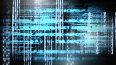 Digital animation of binary technology code 4k Animation
