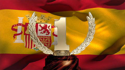 Spanish Flag and trophy Animation