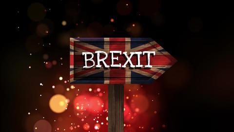British Brexit flag video Animation