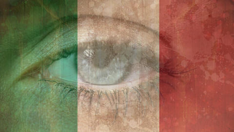 Italian Flag with eye Animation