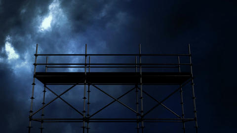 Thunder and scaffolding at night Animation