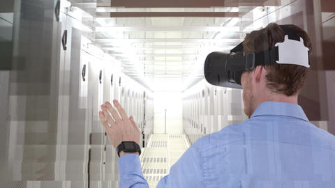 Man using VR Video Animation