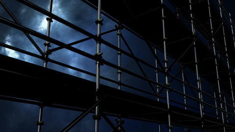 Thunder and construction site scaffolding Video Animation