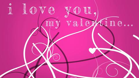 I love you my valentine video Animation
