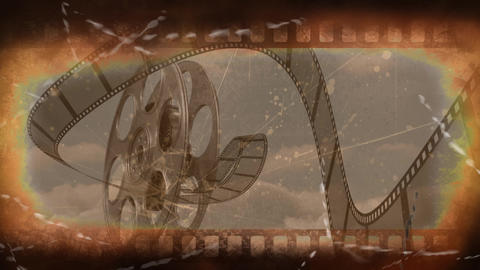 Old Movie tape video Animation