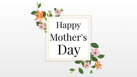Happy Mothers day text in frame Animation