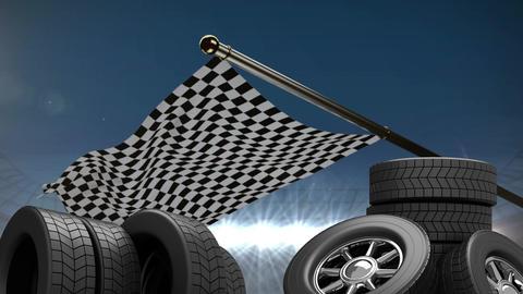Animated car wheels video Animation