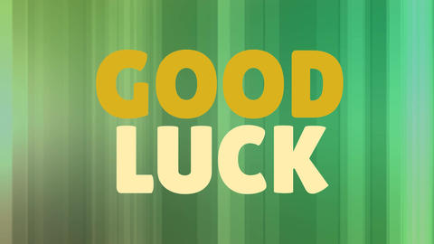 Good Luck Card Video Animation