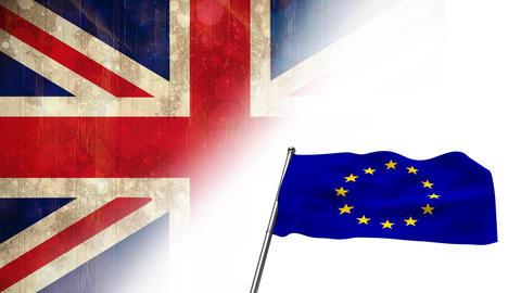 Animated EU flag video Animation