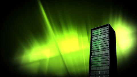 server and green lights Animation