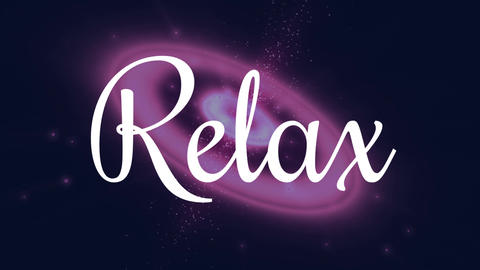relax text Animation