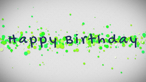 happy birthday text Animation