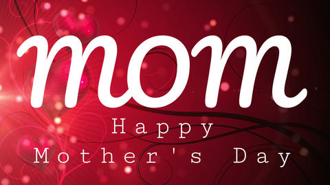 Happy mothers day text Animation