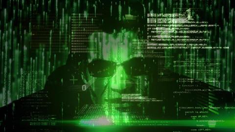 Digital composite of hacker Animation